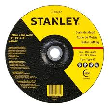 Disco de corte metal 9 Stanley 3 mm